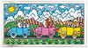 James Rizzi - DRIVING THROUGH THE ALPS - inklusive Rahmen