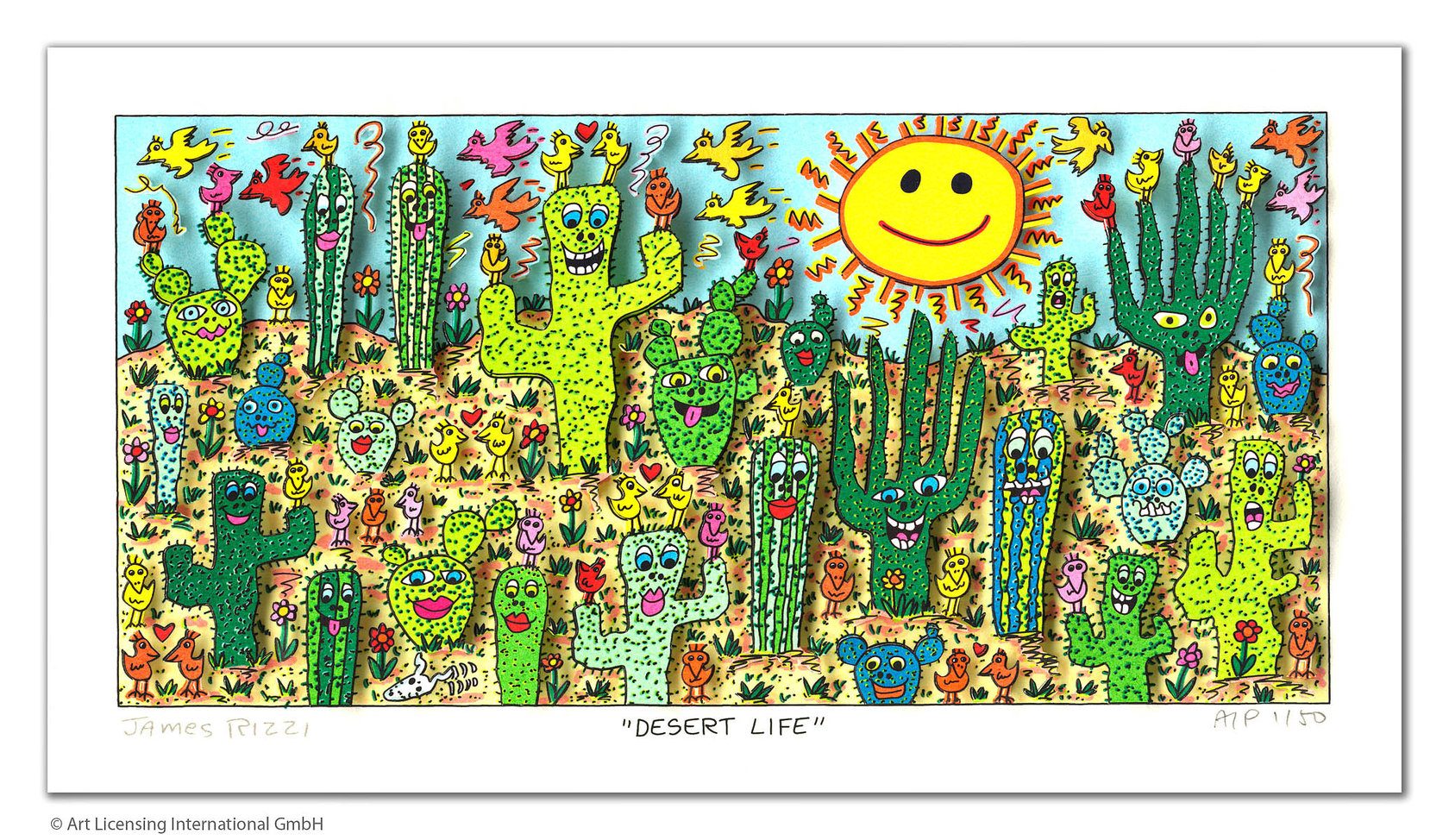 James Rizzi - DESERT LIFE