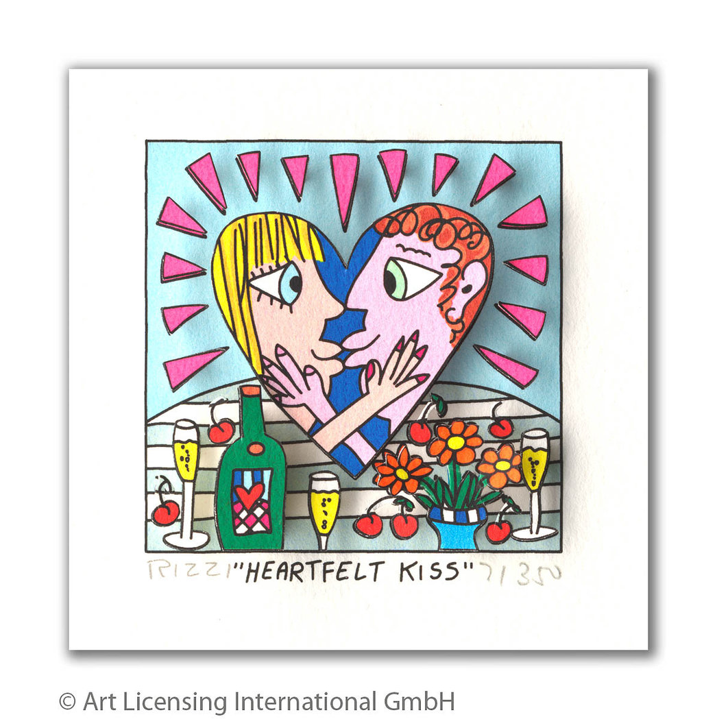 James Rizzi - HEARTFELT KISS