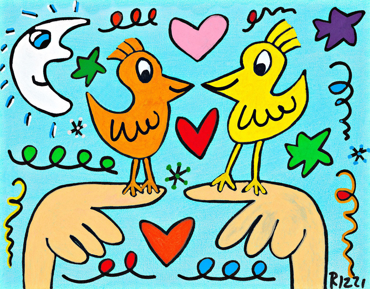 James Rizzi - LOVE THOSE LOVE BIRDS