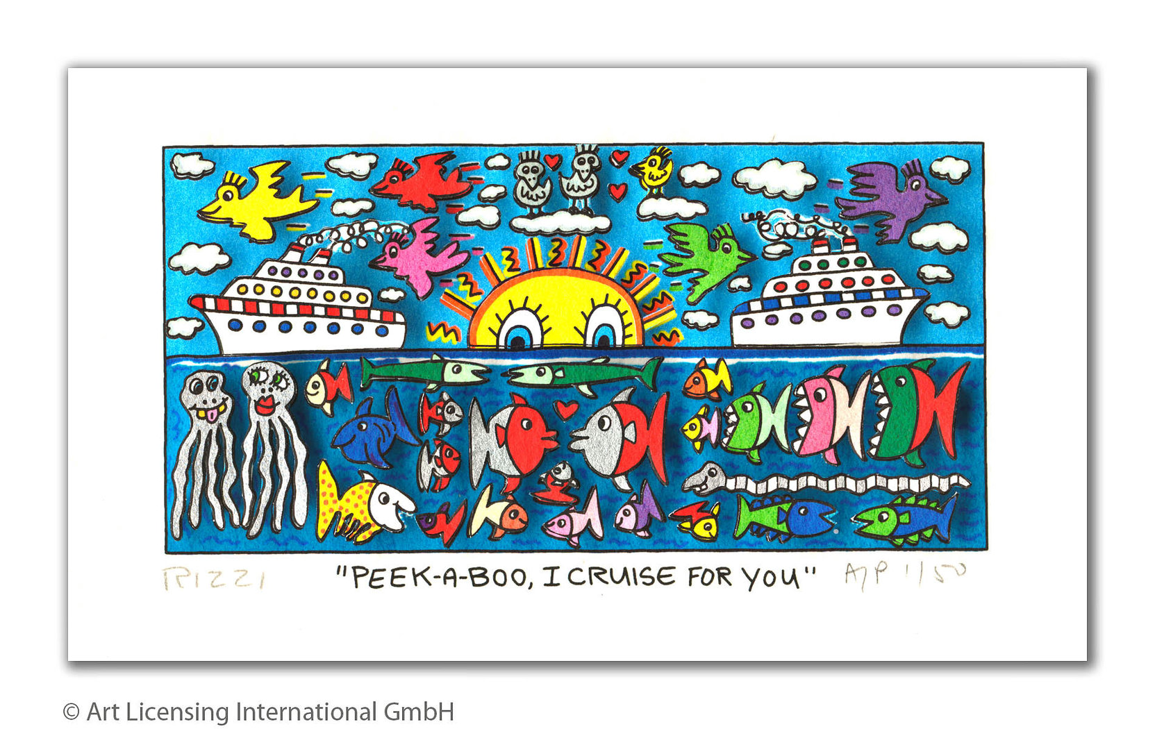 James Rizzi - PEEK-A-BOO, I CRUISE FOR YOU