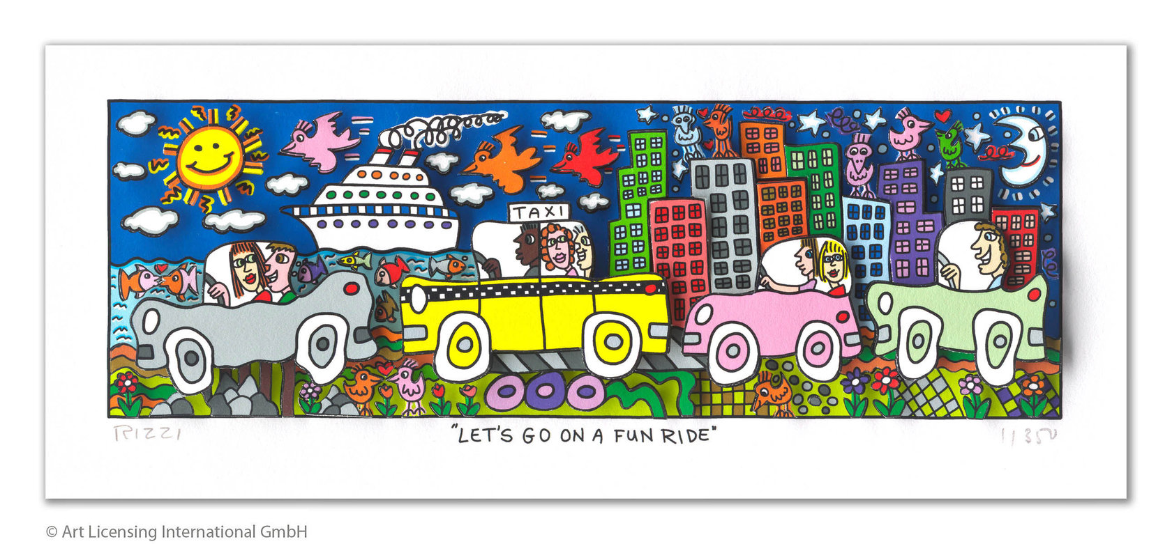 James Rizzi - LET'S GO ON A FUN RIDE